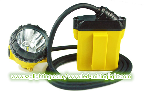IP68 Approved 25000lux 3W Cree Safety Mining Cap Lights  with 3 Levels Lighting