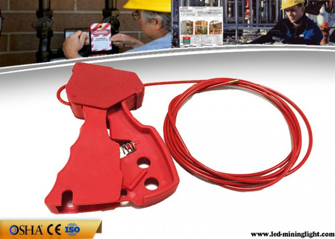 211g Adjustable Cable Lockout Stainless Steel 2.4 Meters Red Grip Type