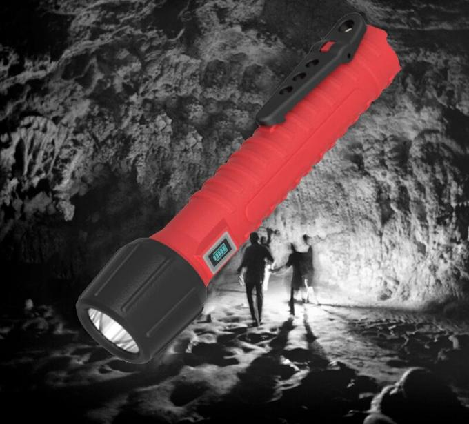 IP 68 Rechargeable Torch Light , 240 LuX Flashlight Explosion Proof