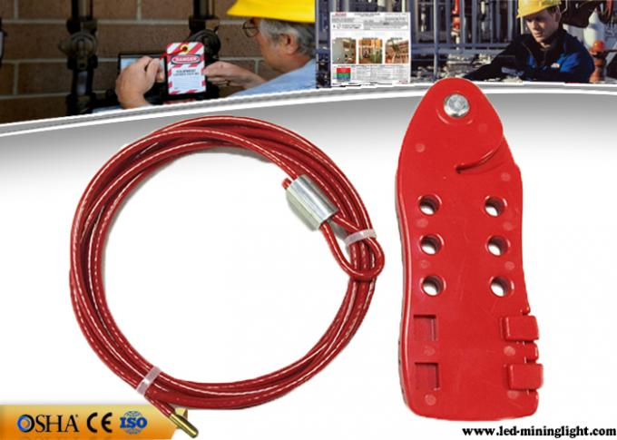 Red Cable Lock Out PC Body Stainless Steel Cable 4 Pieces Padlocks Available