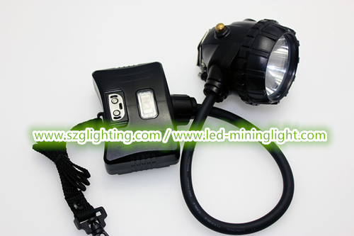 1.6W Semi Corded CREE Led Cap Lamp Underground Mining Three Charging Modes