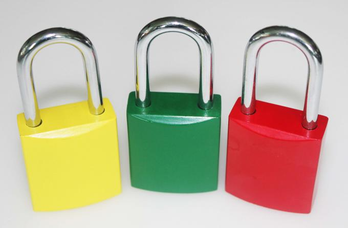Colorful Aluminum Safety Lockout Padlocks Stable Paint Coating Surface