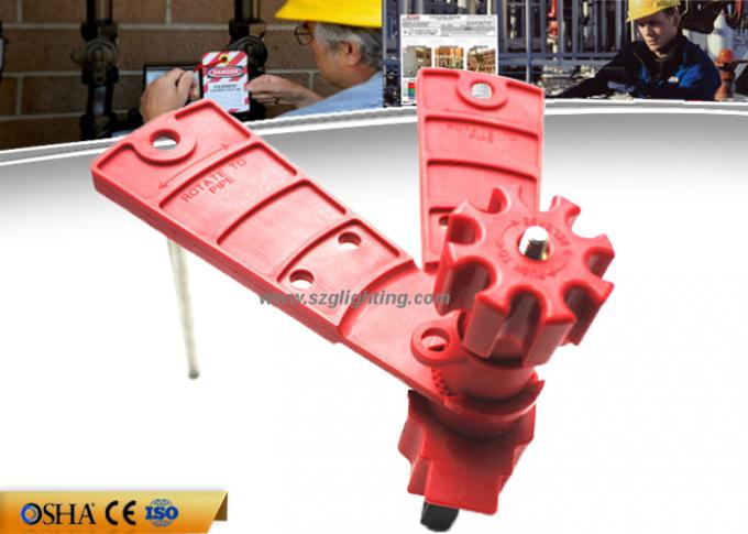 Two Arms Valve Lock Out Suitable 3 / 4 / 5 Way Valves 25 Mm - 40 Mm Size