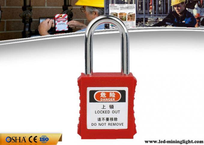 38mm Steel Professional Safety Lockout Padlocks For Danger Warning