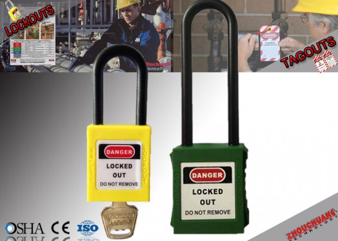 Osha 76mm Long Nylon Non - Conductive Xenoy Safety Lockout Padlock