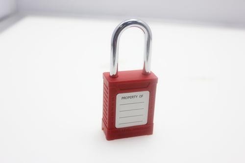 ZC-G01 Red Short Shackle Safety Lockout Padlock , ABS Body Steel Shackle