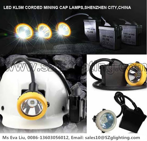 7800mA Rechargeable Mining Cap Lights Corded Style 3 Watt Main LED Power