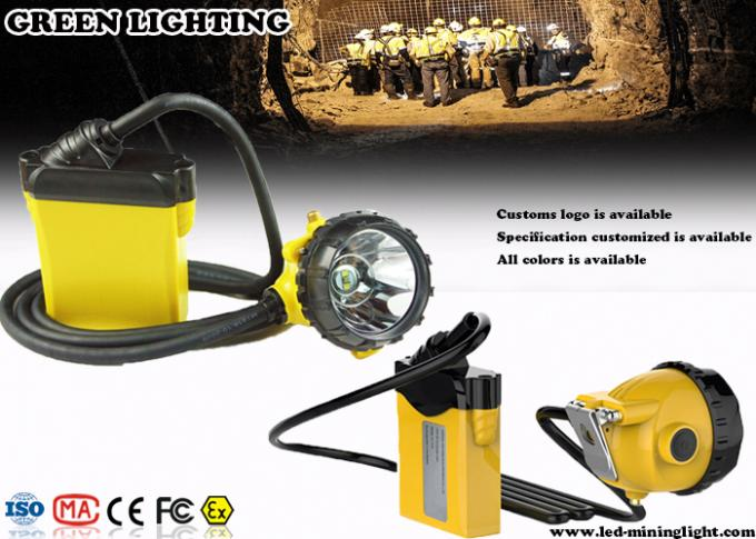 25000Lux 12Ah Corded Minining Cap Lamp with 4 Lighting Levels , 490g Lightweight Headlamp
