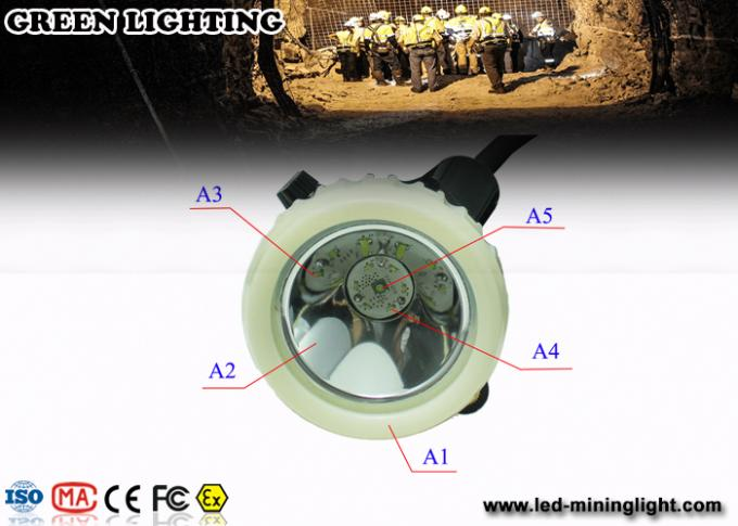 LED waterproof mining cap lights with Li-ion battery , GL5LM-B 10000lux / 6.6Ah