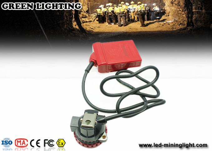 4500 Lux Led Mining Light , Portable Cordless Mining Cap Lamps With 4ah Baterry