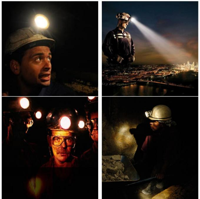 IP68 Waterproof Coal Mining Lights / 12000 Lux Brightness Miners Cap Lamp