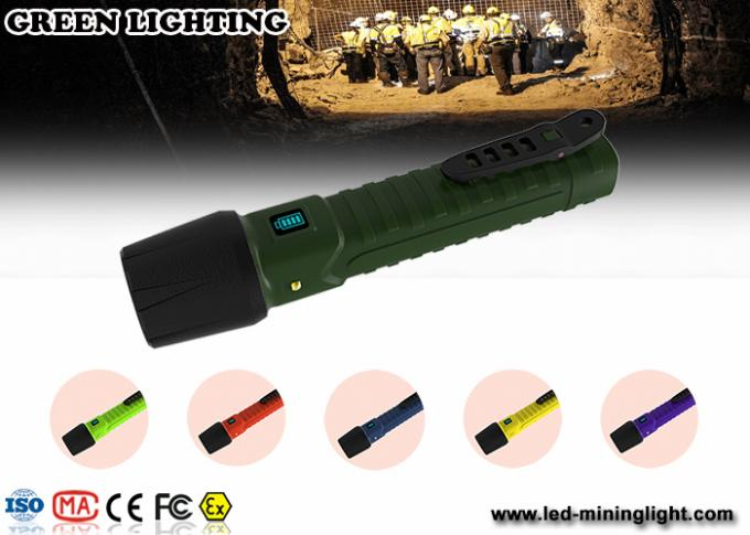 IP68 explosion prevention flashlight / explosion proof rechargeable torch 1300lum brightness