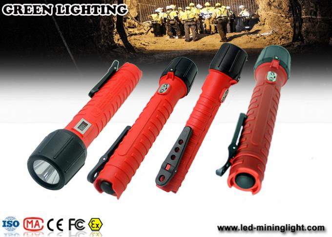 6Ah 3.7V battey exproof flashlight , Cree LED ex proof lighting customized Color