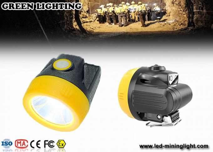 IP68 Germany Bayer Cordless Miners Cap Lamp , Led Mining Lamp PC Matte Surface