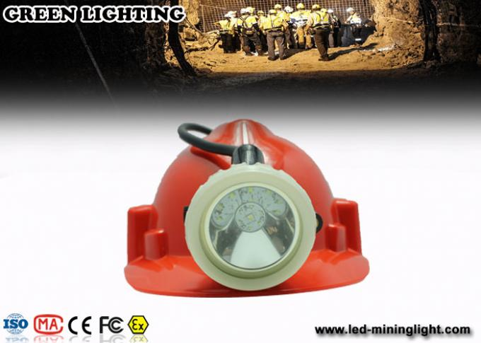 0.38M Cable White Color Coal Miners Headlamp , 8000 lux IP68 Miners Hard Hat Light