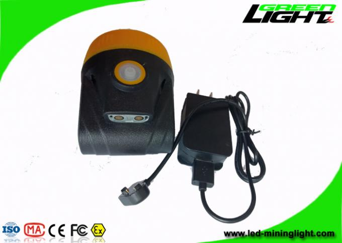 10000 Lux Rechargeable LED Headlamp Adjustable SS Clip For Underground Coal Mine