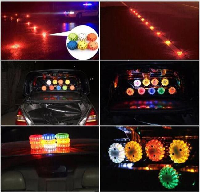 35hrs Working Time Led Flashing Warning Lights Rechargeable 9 Kinds Lighting Modes