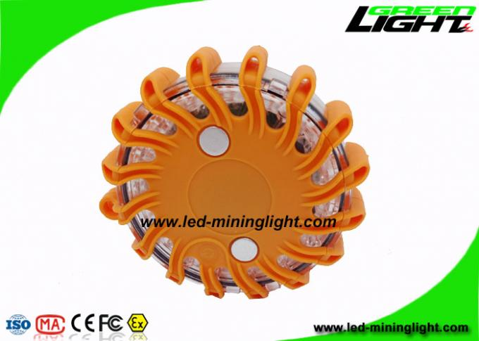 Custom Waterproof Led Warning Light Rechargeable Orange Color 3 Year Shelf Life
