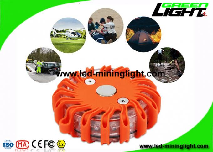 Magnetic Safety Led Emergency Beacon Flares for Road , 9 Kinds Lighting Mode