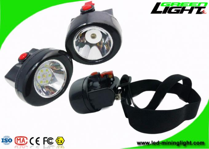 Li - Ion Battery Rechargeable LED Headlamp , 3.7V Cordless Mining Cap Lamps