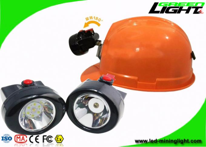 Water - Proof  IP67 Hard Hat Light Rechargeable 4000 Lux For Hiking And Mining
