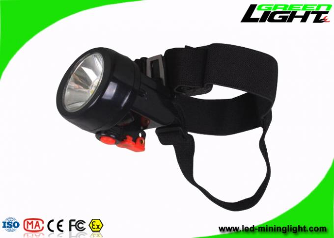 Li - Ion Battery Rechargeable Miners Headlamp 10000 Lux Flame - Resistant
