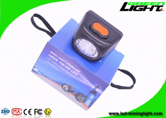 Water - Proof Cordless LED Mining Light 3.7V Rated Voltage For Underground Safety