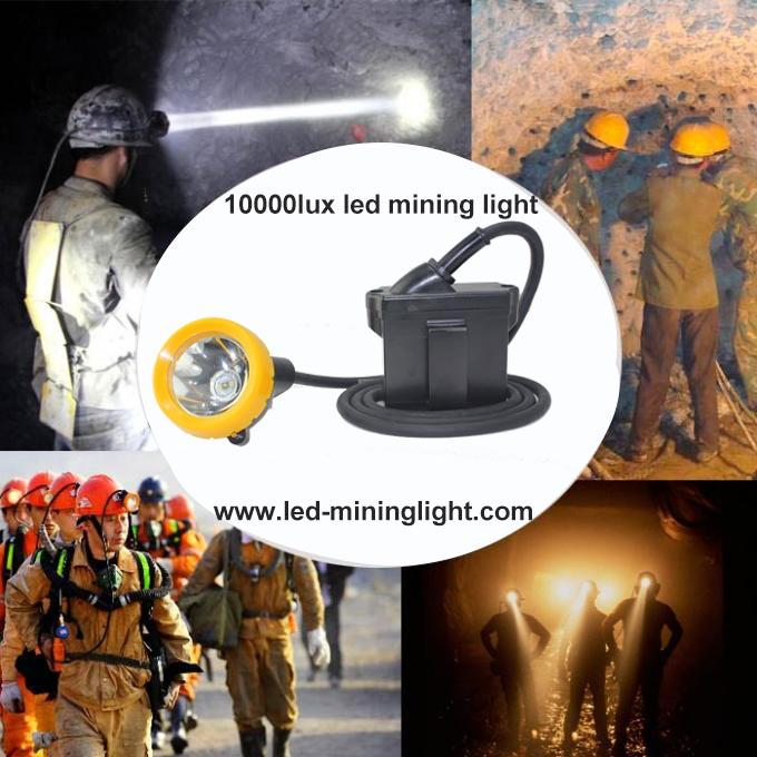 6.6Ah Black Mining Cap Lights , 420g Miners Helmet Light  With 16 Hours Working Time
