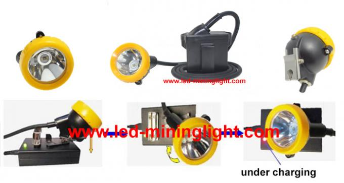 Helmet Lamp LED Mining Light 6.6Ah Li - Ion Battery With 1000 Battery Cycles