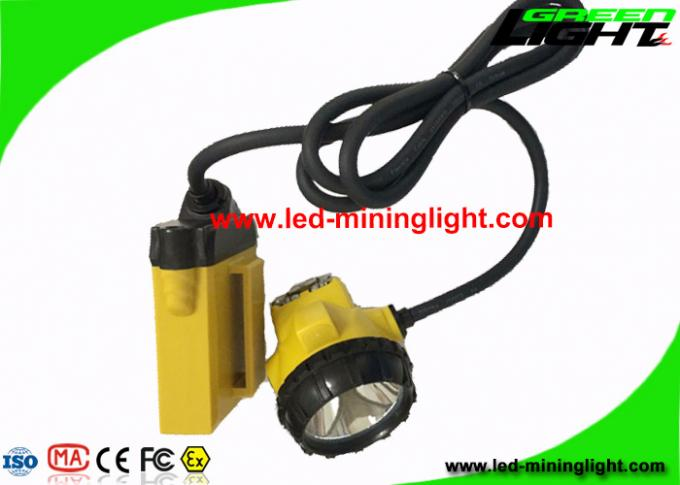 Waterproof LED Miners Lamp 25000lux Brightness With 10.4 Ah Big Battery Capacity
