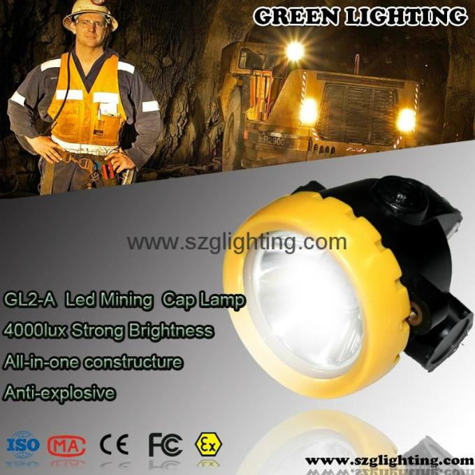Explosion - Proof LED Cap Lamp 4000lux Brightness With 2.2Ah Li - Ion Battery