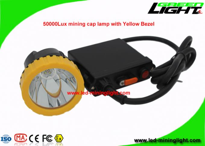 Underground LED Coal Mining Lights High Safety 11.Ah 50000 Lux For Hunting