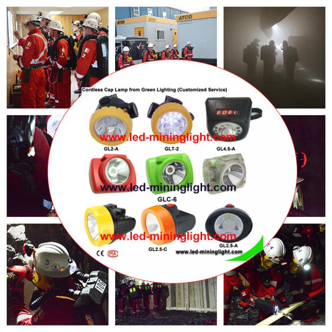 High Brightness Coal Mining Lights Endurable Cordless Mining Headlamps Energy Saving