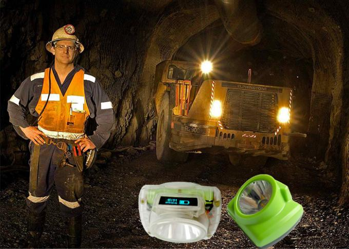 13000lux LED Cordless Mining Cap Lamps IP68 Waterproof  USB Charging With OLED Screen