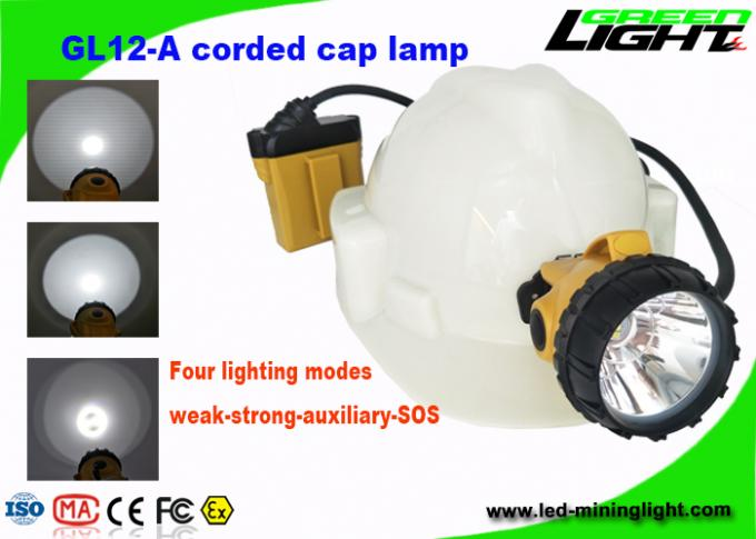 25000lux High Brightness Mining Cap Lights 10.4Ah SAMSUNG Battery With Anti Stretch Cable