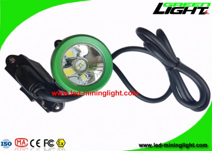 IP68 Mining Cap Lights Corded 10000Lux Brightness With Cable USB Charging Support