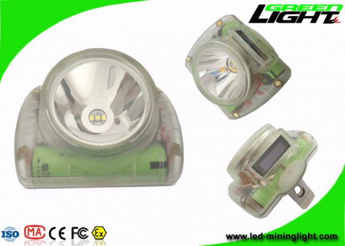 3.7V Undergroud Miners Cap Lamps Cordless Lighweight 6.8Ah Li - Ion Battery IP68