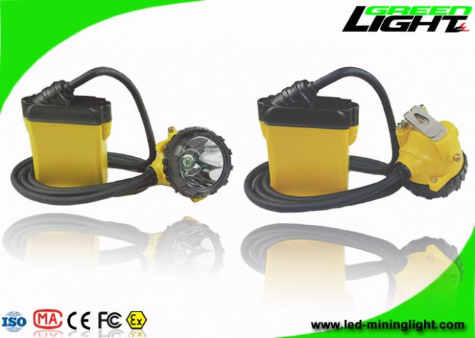 Hard Hat LED Mining Light ABS Material 25000Lux Brightness 13-15hrs Working Time
