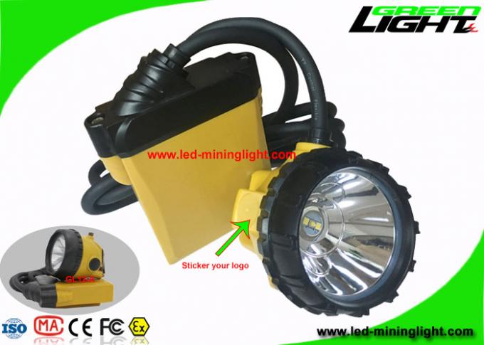 25000 Lux Underground Coal Mining Lights 3W Msha Approved With SOS Flashlight