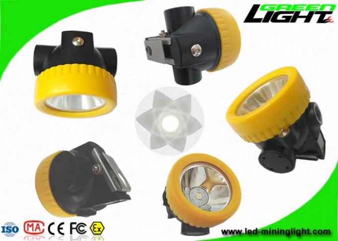 Anti Explosion LED Mining Light 2.2Ah Battery 230mA IP68 With 100000hrs Life Span