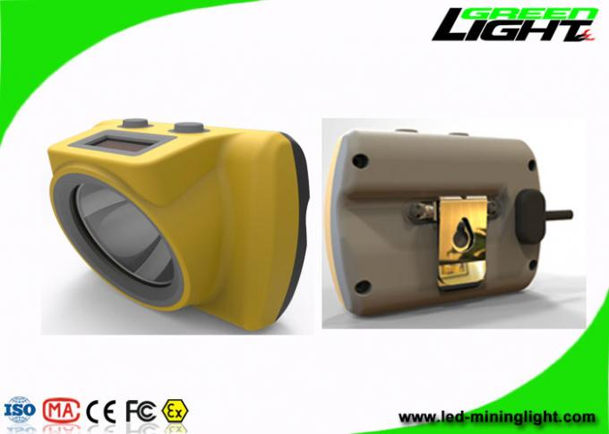 Small Size Cordless Mining Cap Lamps 13000lux High Brightness Lightweight Handy Switch