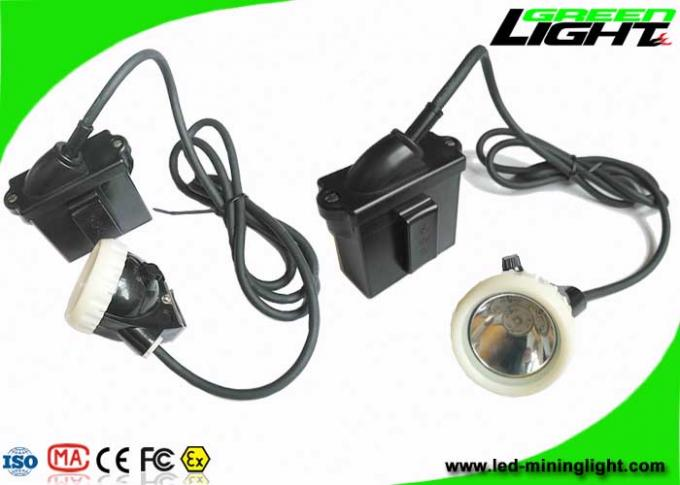 IP67 Led Mining Cap Lights , Rechargeable Underground Safety Headlamps 10000lux 6.6Ah