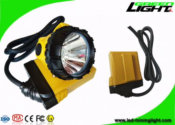 25000lux High Power Rechargeable Led Headlight 10.4Ah With Low Power Warning