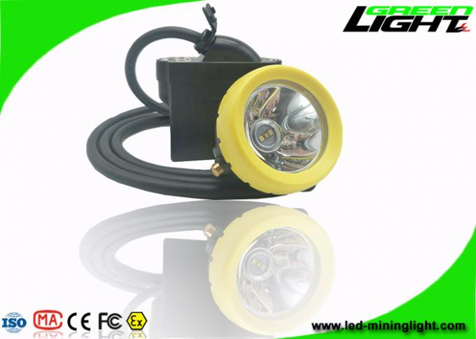 216lum 10000lux Rechargeable Led Hard Hat Light 7.8Ah Li - Ion Battery IP68 450mA