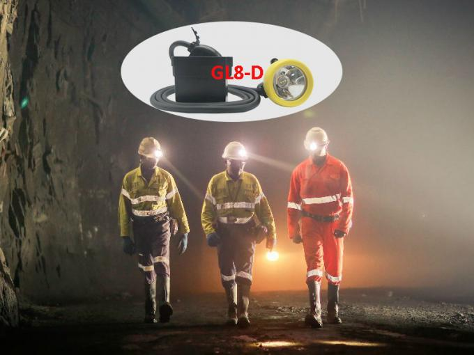10000lux Underground Coal Mining Cap Lights USB Charging Cable With SOS Function