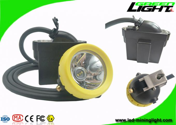 IP68 Coal Mining Cap Lights 10000lux 7.8Ah Li - Ion Battery 18hrs Long Lighting Time