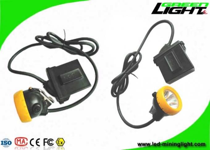 Explosion Proof LED Miners Helmet Light IP68  7.8Ah Li - Ion Battery 10000lux Brightness