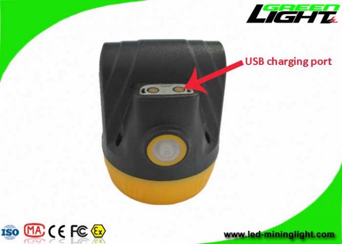 Underground Safety Coal Mining Lights IP68 3.8Ah Rechargeable Li - Ion Battery