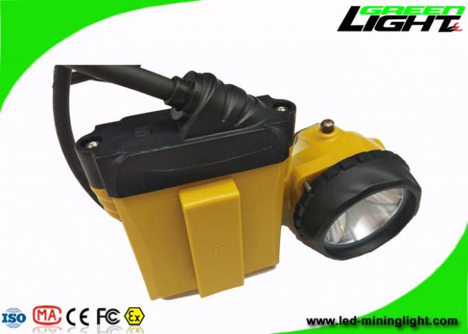 Low Power Warining Led Miners Cap Lamp 10.4Ah 25000lux High Beam 2A Charger 0