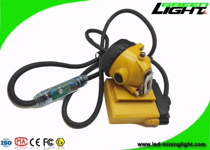 Low Power Warining Led Miners Cap Lamp 10.4Ah 25000lux High Beam 2A Charger 1